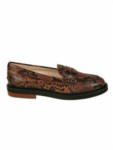 Tods Snake Print Loafers