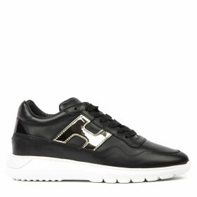 Hogan Black Interactive Leather Sneaker