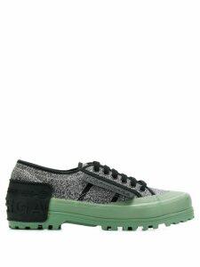 Marco De Vincenzo glitter low top sneakers - Metallic