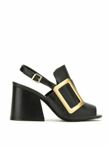 Schutz oversized buckle sandals - Black