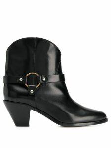 Francesco Russo strap-embellished ankle boots - Black