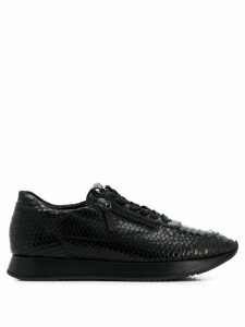 Hogl embossed croc-effect sneakers - Black