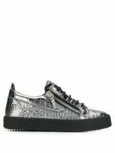 Giuseppe Zanotti Gail snakeskin-effect sneakers - Silver