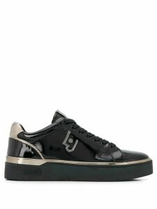 LIU JO low top patent-leather sneakers - Black