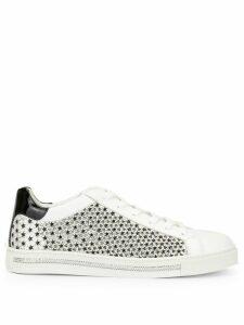 René Caovilla Xtra Stelina laser-cut sneakers - White