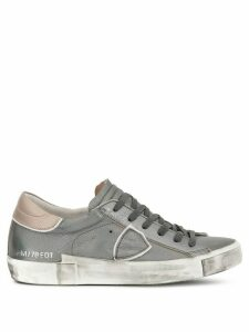Philippe Model metallic side logo sneakers - Silver