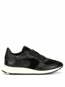 Philippe Model panelled lace-up sneakers - Black