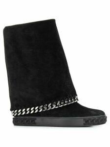 Casadei chain trim boots - Black