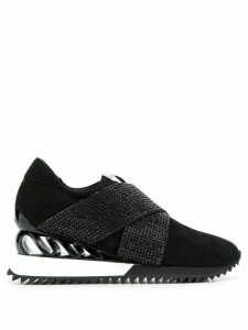 Le Silla crystal embellished sneakers - Black