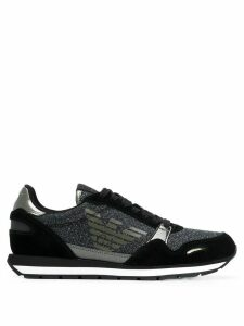 Emporio Armani glitter embellished sneakers - Black