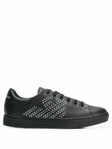 Emporio Armani rhinestone low top sneakers - Black