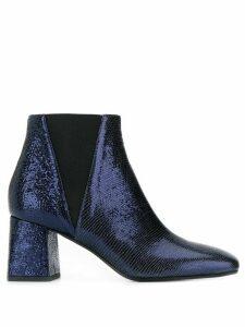 Pollini metallic ankle boots - Blue