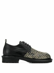 Ann Demeulemeester web-embroidered derby shoes - Black