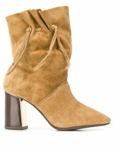 Tory Burch drawstring side detail boots - Brown