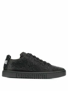 Moschino crystal embellished sneakers - Black
