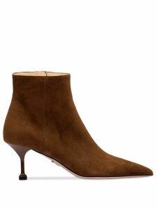 Prada stiletto ankle boots - Brown