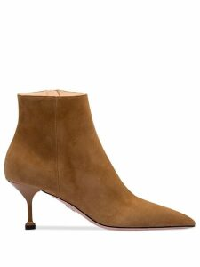 Prada pointed toe boots - Brown