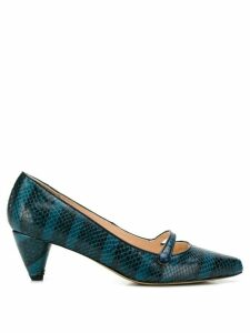Lenora striped pointed pumps - Blue
