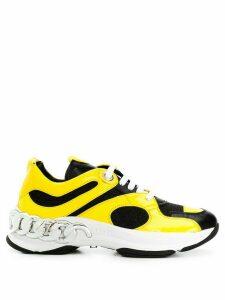 Casadei chain detail sneakers - Black