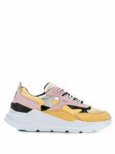 D.A.T.E. chunky sole panelled sneakers - Yellow