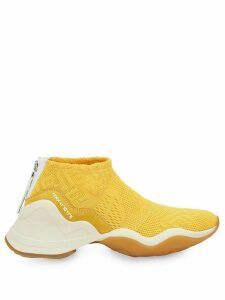 Fendi mesh FF logo sneakers - Yellow