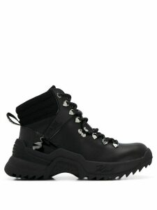 Karl Lagerfeld Quest Cross lace mid-rise trainers - Black