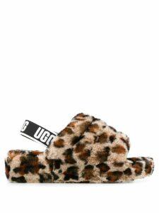 Ugg Australia Fluff Yeah leopard-print slides - Neutrals