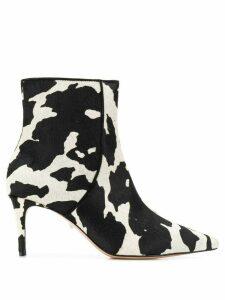 Schutz animal pattern ankle boots - Black