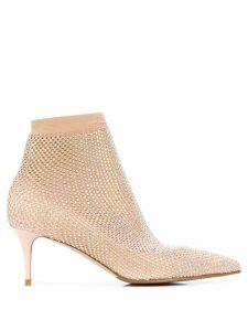 Le Silla Gilda crystal-embellished boot pumps - NEUTRALS