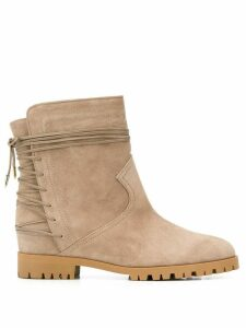 Aquazzura lace-up low-heel ankle boots - Neutrals