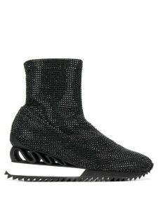 Le Silla Queen Burma sneaker boots - Black