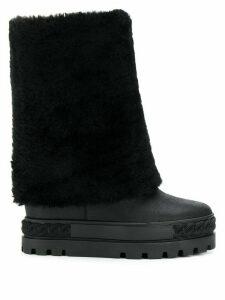 Casadei flatform boots - Black