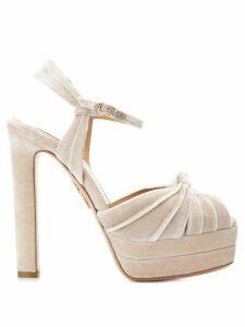 Aquazzura open toe platform sandals - NEUTRALS