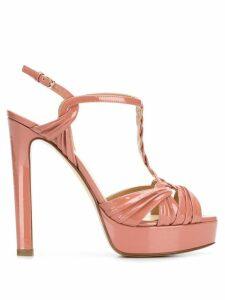 Francesco Russo platform open-toe sandals - PINK