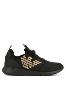 Ea7 Emporio Armani side logo sneakers - Black