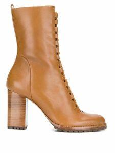 Alexandre Birman lace-up ankle boots - Brown