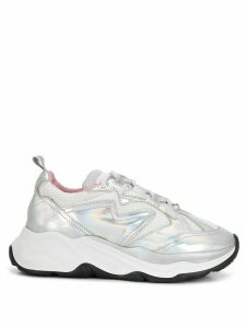 MSGM holographic Attack low-top sneakers - Silver
