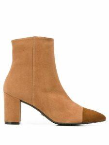 Stuart Weitzman Jill cap-toe ankle boots - Brown