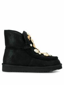 Tosca Blu flat embellished boots - Black