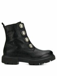 Tosca Blu button embellished boots - Black