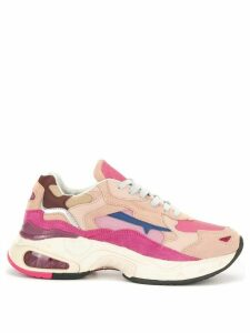 Premiata colour block panelled sneakers - Pink