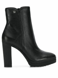 DKNY ankle leather booties - Black