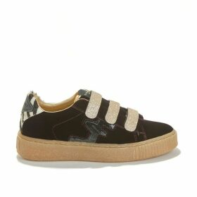 Madison Suede Mix Trainers with Touch 'n' Close Fastening