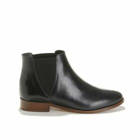 LA LONDONIENNE Smooth Leather Flat Boots