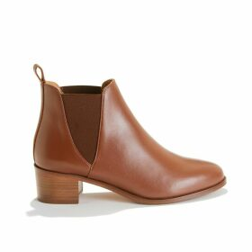 La Soho Smooth Leather Boots with Mid-Heel