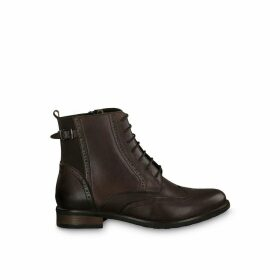 Cairo Lace-up Leather Boots
