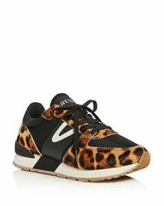 Tretorn Women's Leopard-Print Calf Hair Low-Top Sneakers