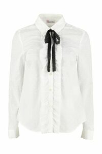 RED Valentino Bow Collar Cotton Shirt