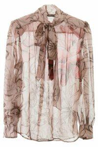 Alberta Ferretti Floral Silk Shirt