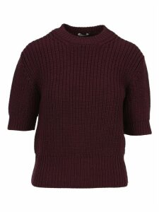 Miu Miu Short-sleeve Knitted Sweater